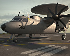 3D model of Northrop Grumman E-2 Hawkeye