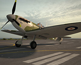 3D model of Supermarine Spitfire