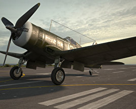 3D model of Vought F4U Corsair