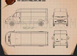 Fiat Ducato Panel Van LWB 2012 Blueprint