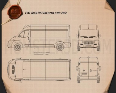 Fiat Ducato Panel Van LWB 2012 Blueprint