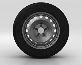 Hyundai Elantra Wheel 15 inch 001 3D model