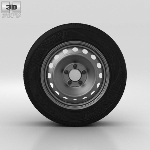 Hyundai Elantra Wheel 15 inch 001 3d model