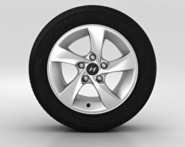 3D model of Hyundai Elantra Wheel 15 inch 002