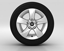 Hyundai Elantra Wheel 16 inch 001 3D model
