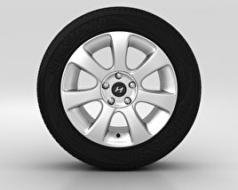 3D model of Hyundai Elantra Wheel 17 inch 001