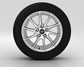 3D model of Hyundai Elantra Wheel 17 inch 002