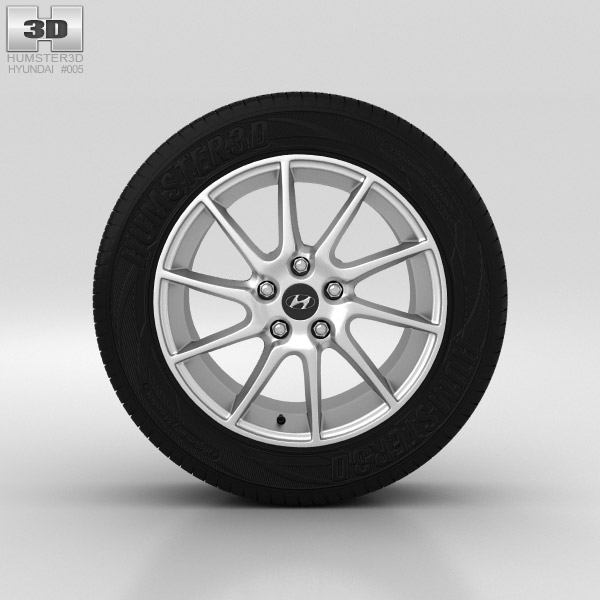 Hyundai Elantra Wheel 17 inch 002 3d model