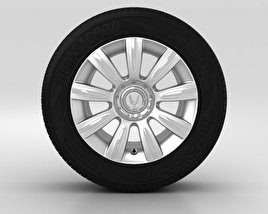 3D model of Hyundai Equus Wheel 17 inch 001