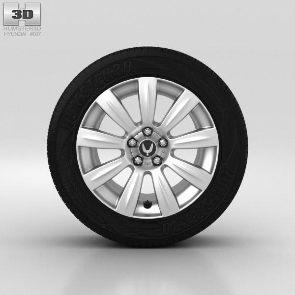Hyundai Equus Wheel 18 inch 001 3D model