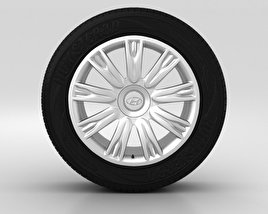 3D model of Hyundai Genesis Wheel 18 inch 001