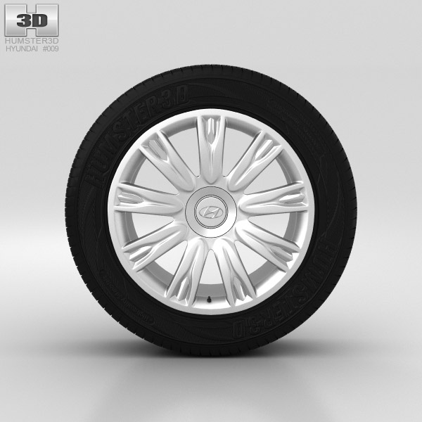 Hyundai Genesis Wheel 18 inch 001 3d model