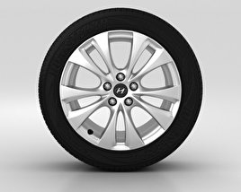 3D model of Hyundai Grandeur Wheel 18 inch 001