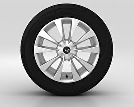 3D model of Hyundai Grandeur Wheel 19 inch 001