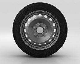 3D model of Hyundai i30 Wheel 15 inch 001
