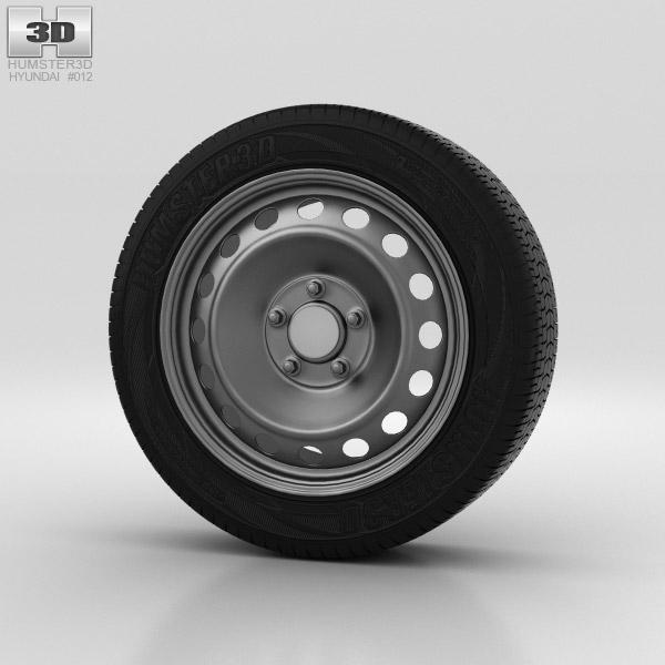 Hyundai i30 Wheel 15 inch 001 3d model
