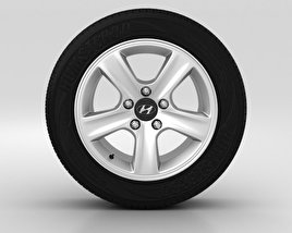 3D model of Hyundai i30 Wheel 15 inch 002