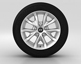 3D model of Hyundai i30 Wheel 16 inch 001