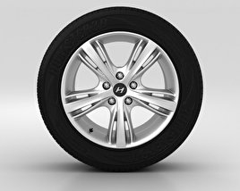 3D model of Hyundai i30 Wheel 17 inch 001