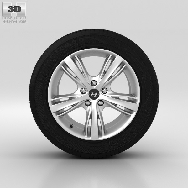 Hyundai i30 Wheel 17 inch 001 3d model
