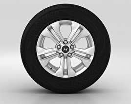 3D model of Hyundai Santa Fe Wheel 17 inch 001