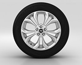 3D model of Hyundai Santa Fe Wheel 19 inch 001