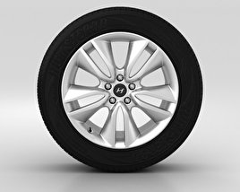 3D model of Hyundai Santa Fe Wheel 19 inch 002