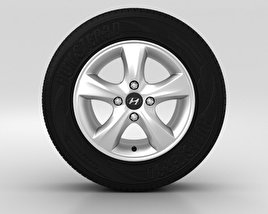 3D model of Hyundai Solaris Wheel 14 inch 001