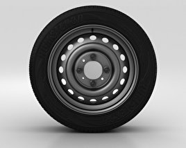 3D model of Hyundai Solaris Wheel 15 inch 001