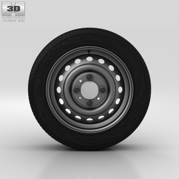Hyundai Solaris Wheel 15 inch 001 3D model