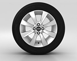 3D model of Hyundai Solaris Wheel 16 inch 001