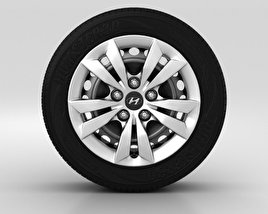 Hyundai Sonata Wheel 16 inch 001 3D model