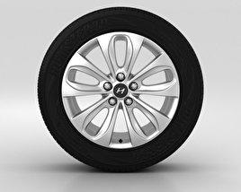 Hyundai Sonata Wheel 17 inch 001 3D model