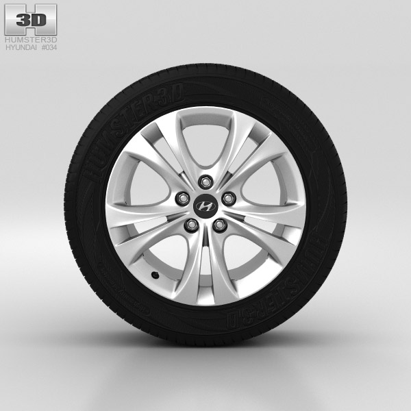 Hyundai Sonata Wheel 18 inch 001 3D model