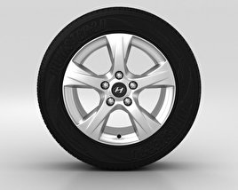 3D model of Hyundai i40 Wheel 16 inch 001