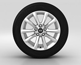 3D model of Hyundai i40 Wheel 17 inch 001