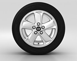 3D model of Hyundai ix35 Wheel 16 inch 001