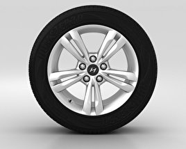 3D model of Hyundai ix35 Wheel 17 inch 001