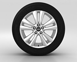 3D model of Hyundai ix35 Wheel 18 inch 001