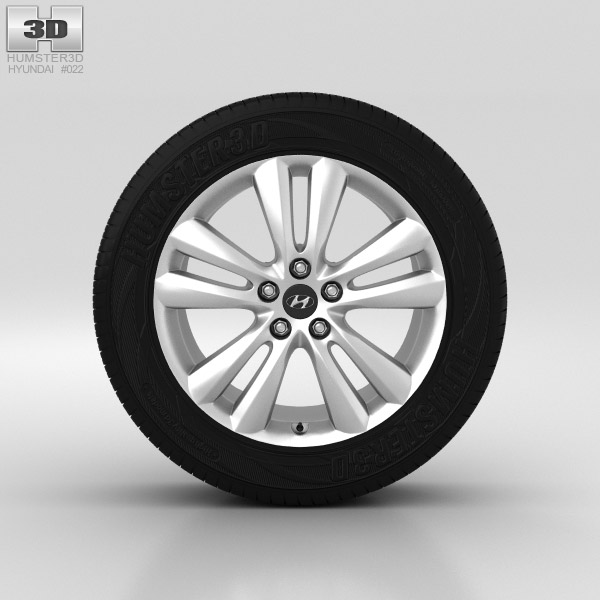 Hyundai ix35 Wheel 18 inch 001 3D model