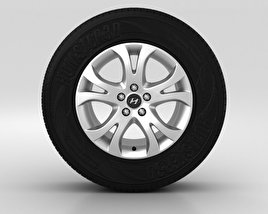 3D model of Hyundai ix55 Wheel 17 inch 001