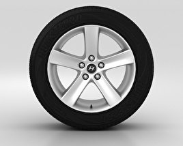 3D model of Hyundai ix55 Wheel 18 inch 001