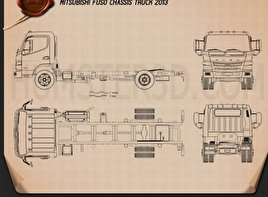 Mitsubishi Fuso Chassis Truck 2013 Blueprint