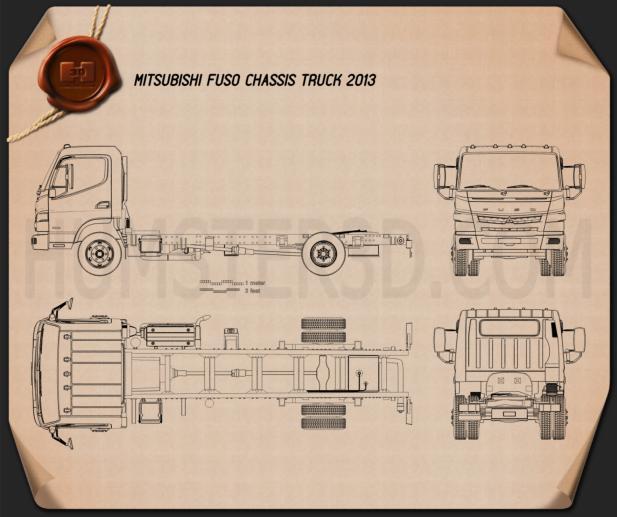 Mitsubishi Fuso Chasis de Camión 2013 Plano