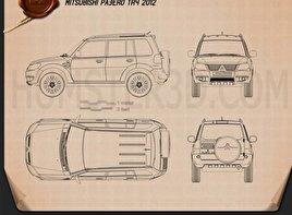 Mitsubishi Pajero TR4 2012 Blueprint