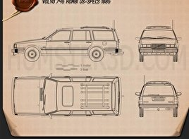 Volvo 745 kombi 1985 Blueprint