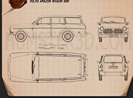 Volvo Amazon wagon 1961 Blueprint