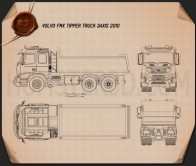 Volvo FMX Tipper Truck 2010 Blueprint