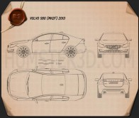 Volvo S60 2013 Blueprint
