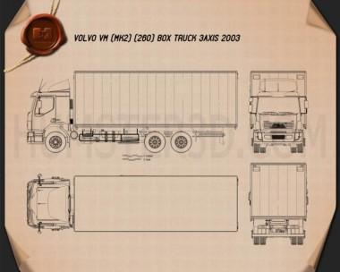 Volvo VM Box Truck 2003 Blueprint